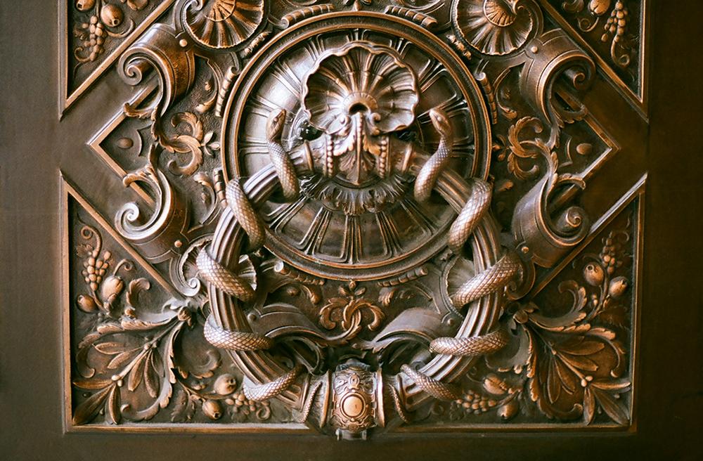 nyc public library door