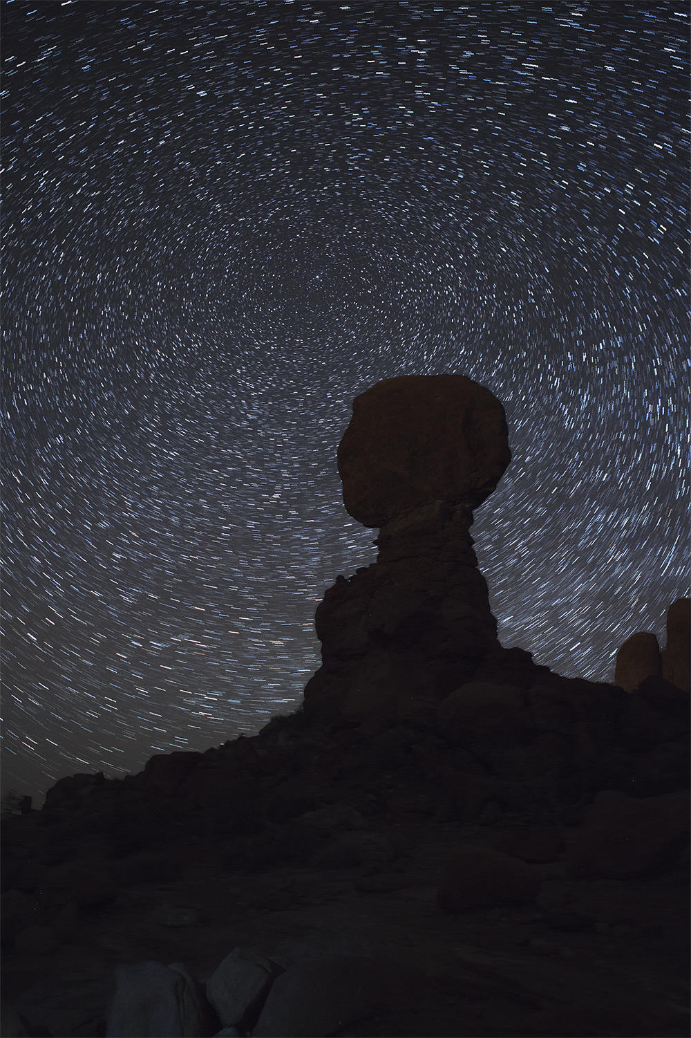 arches national park star trail photography
