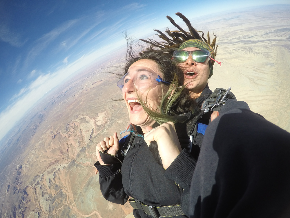 skydiving over canyons