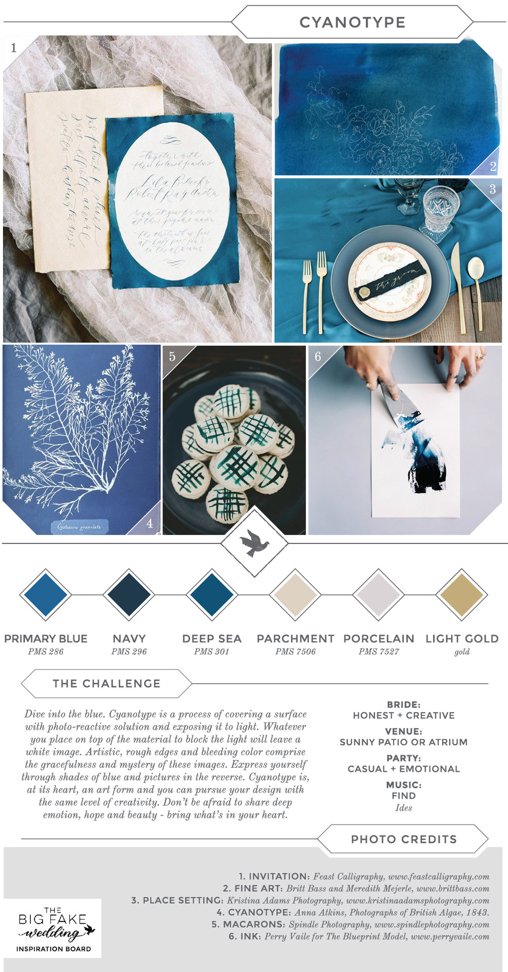 cyan inspired wedding