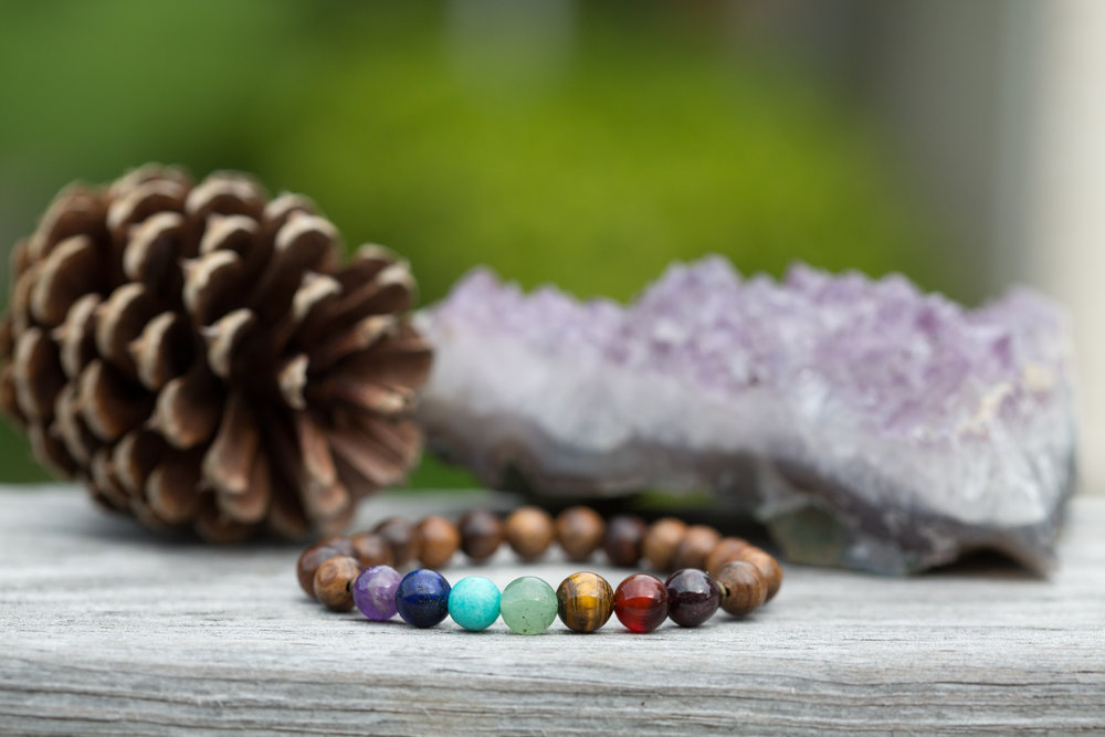 Jewelry - Handmade jewelrysprinkled with a bit of metaphysical goodness. Bracelets, necklaces, and earrings with crystals and other natural elements such as wood and even an essential oil diffuser line made with lava stone.