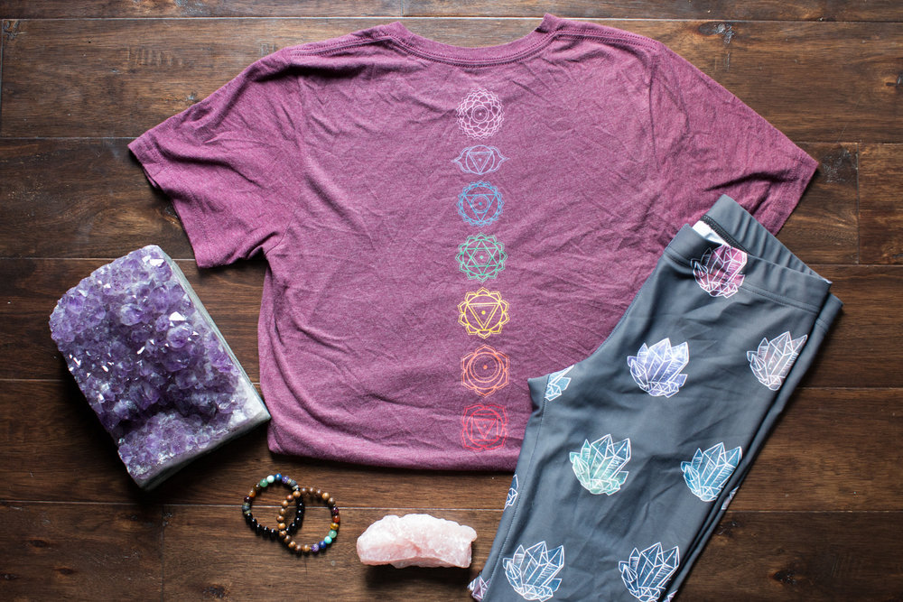 Clothing - Shop the clothing line featuring shirts and yoga pants. Designs inspired by my own spiritual journey and life experiences.