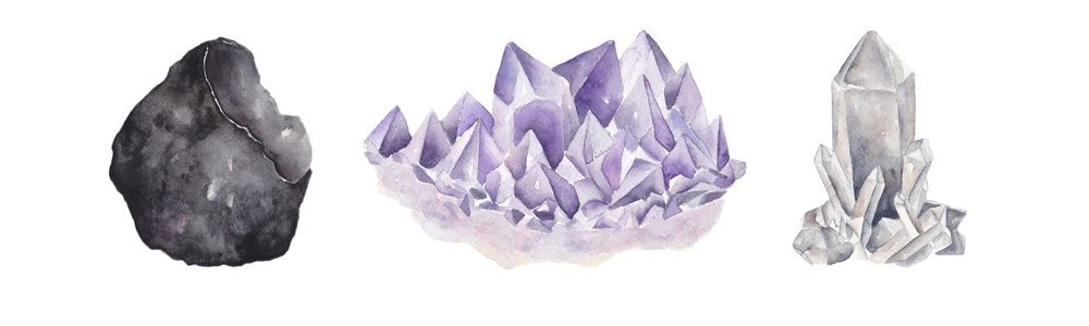 Watercolor Crystal Paintings