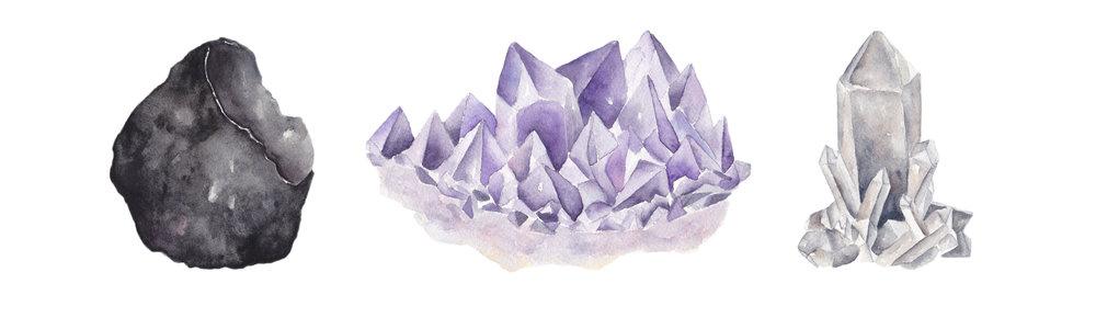 Watercolor Crystal Paintings