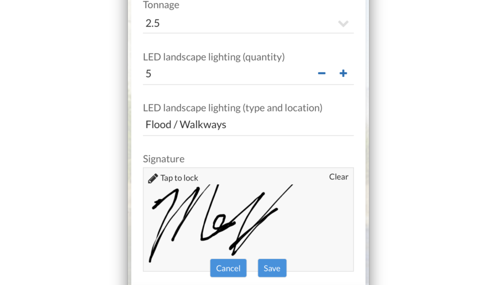 All signatures are stored as an image file with a unique timestamp alongside each entry in your database!  Electronic signatures are as legally binding as one on paper!