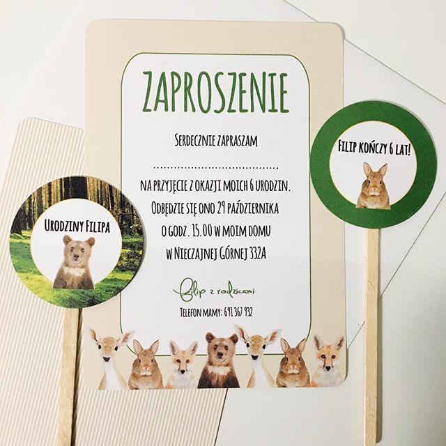 Będzie impreza, trzeba wysłać zaproszenia. #zaproszenia #zaproszenie #zwierzaki #las #zwierzetazlasu #socutepl