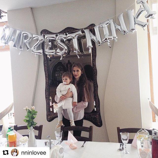 Napis z balonów na Chrzest Ninki. #Repost @nninlovee with @repostapp ・・・ Teraz to już na pewno będzie aniołek😇💒 #baby #instadziecko #instababy #polishgirl #polishmum #instadziecko #lfl #l4l #chrzest #chrzestświęty #chrzciny #Ninka #mamaicórka #goodday