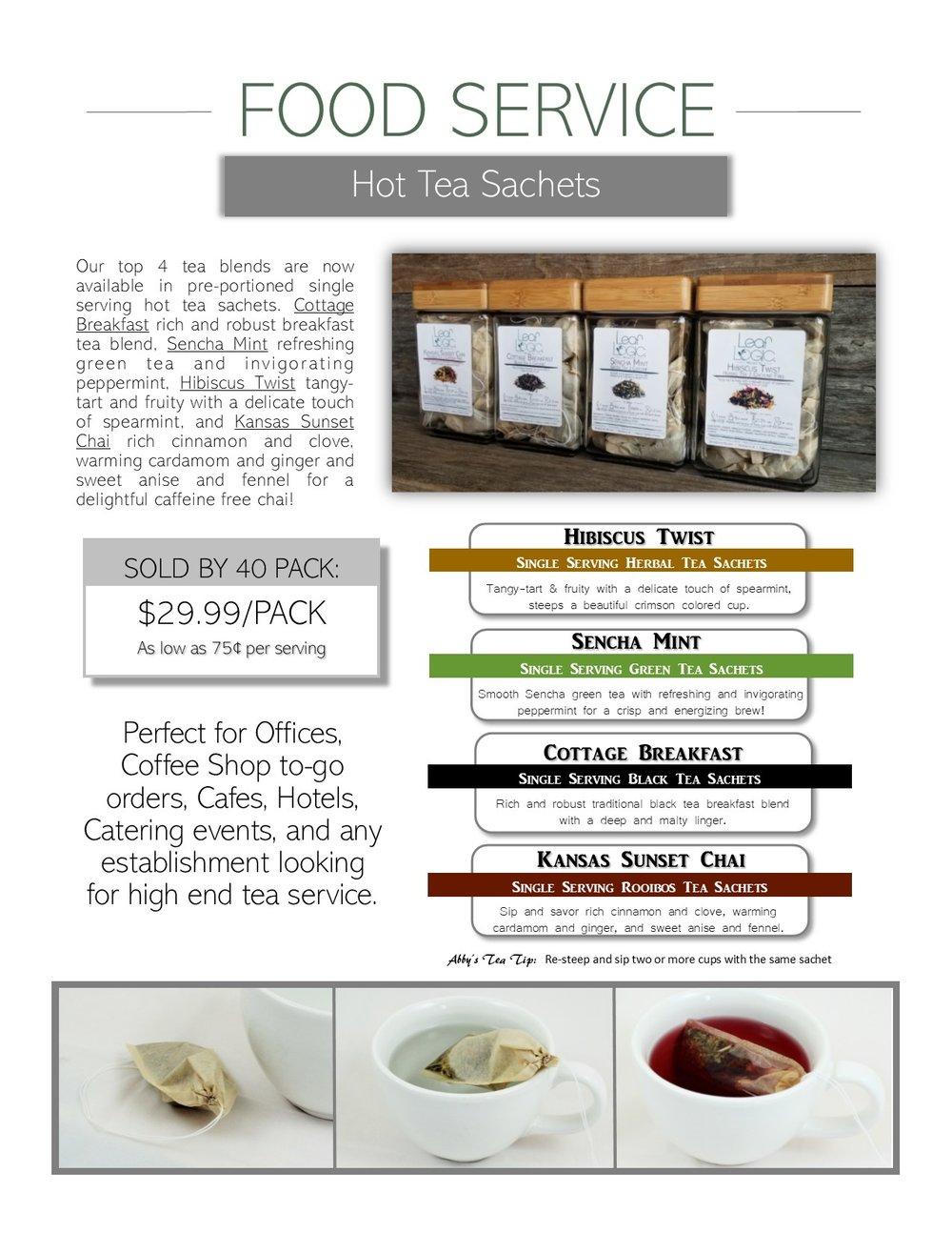 Leaf Logic Food Service Hot Tea Options