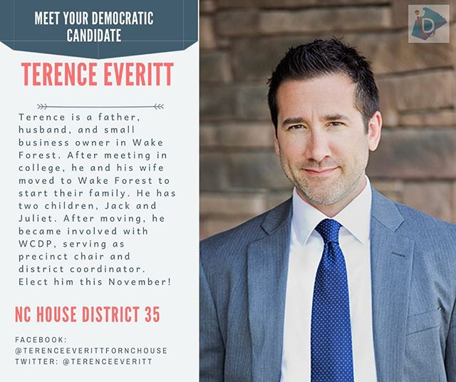 If you live in House District 35, be sure to vote for Terence Everitt this term ➡️ as a small business owner, he  advocates for building a better economy, fully funding our public schools, and more :
