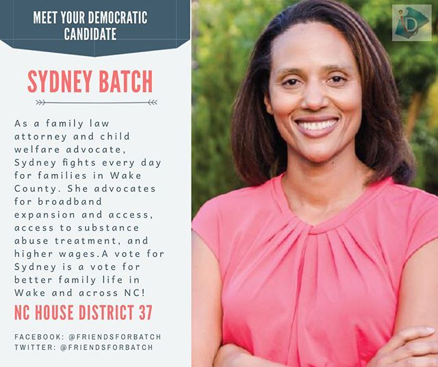 Get to know Sydney Batch ➡️ she's running for House Representative for District 37 . A vote for her is a vote for better family life in NC . #ncpol #turnncblue #wcpol #getoutthevote #earlyvoting