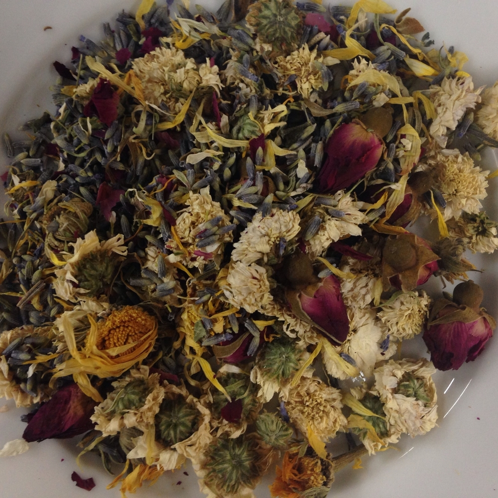 Three flower celebration herbal tea