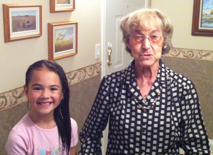 Grandma with my daughter Jazmine in 2012