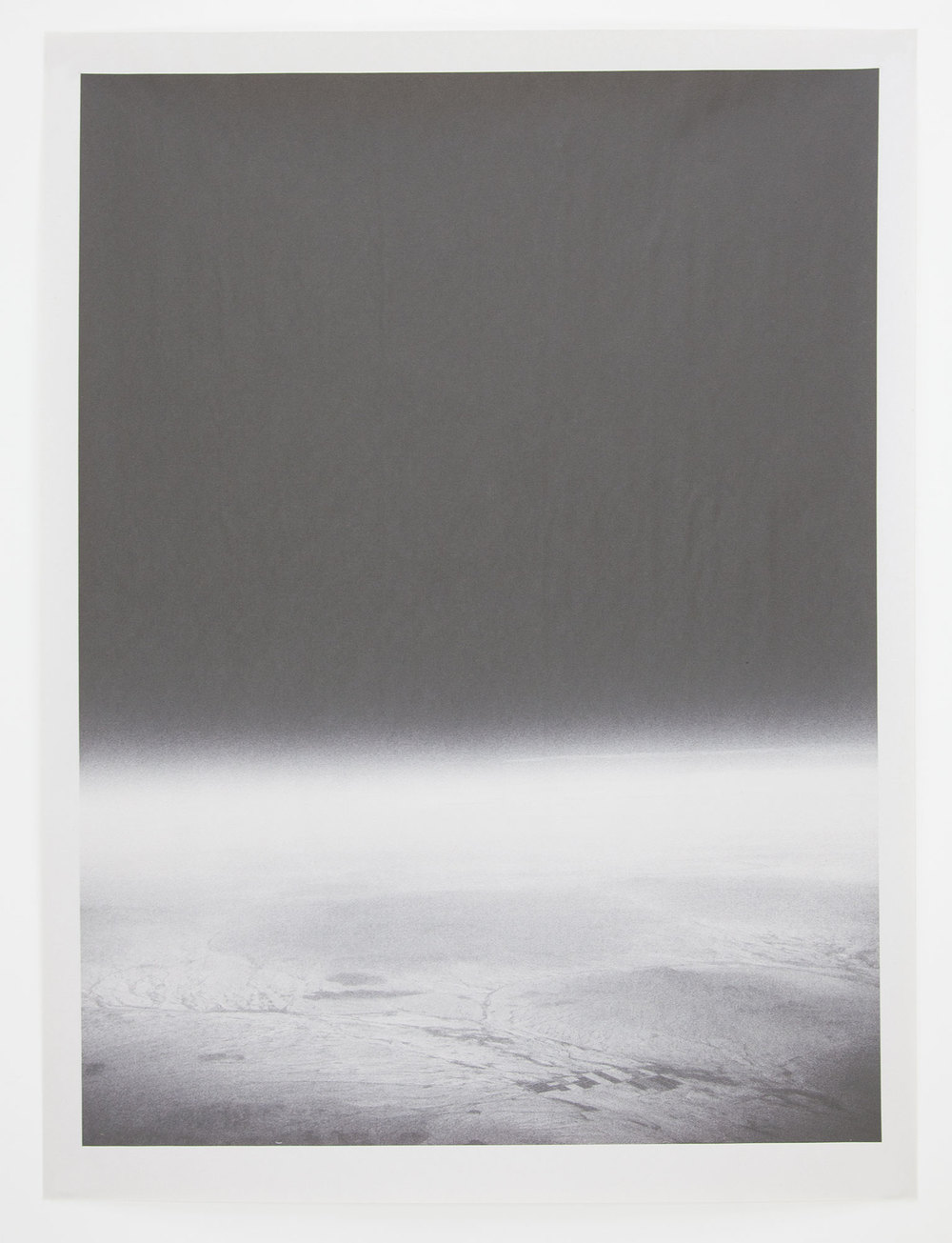 AZ_1166 , unique pigment print on newsprint, 18 x 24 inches, 2015