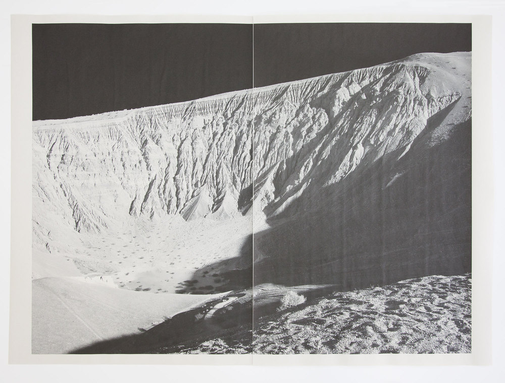 DV_7198 , unique diptych pigment print on newsprint, 36 x 24 inches, 2015