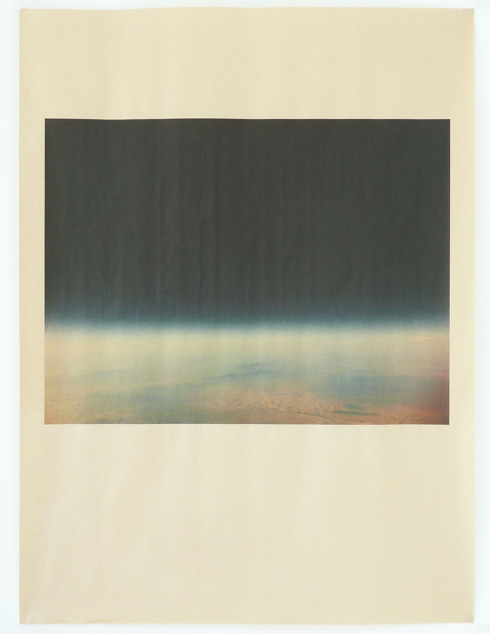AZ_1164 , unique pigment print on newsprint, 18 x 24 inches, 2015