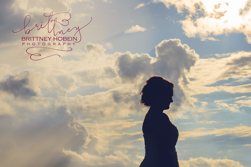 This sweet bride's father had passed away, and his absence was keenly felt on this incredibly special day. As I attempted a bridal silhouette, a heart shaped cloud formed directly behind her. It gave me goosebumps.