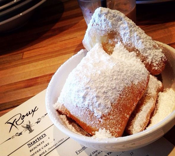 Beignets at Restaurant Roux. Image courtesy of their  instagram