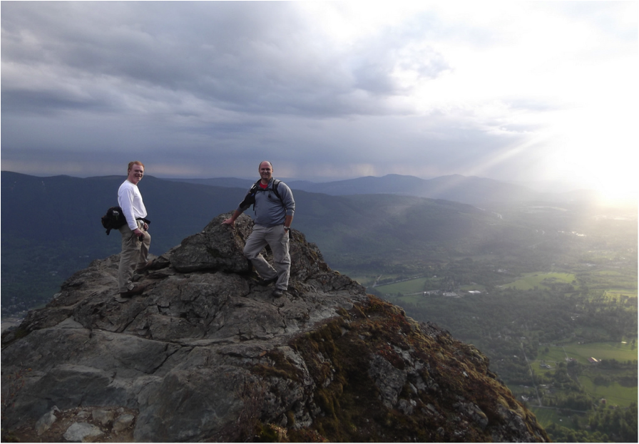 """"""" KC and Jeff at Mount Si, """" by brewbooks. Licensed under https://creativecommons.org/licenses/by-nc-nd/2.0/."""