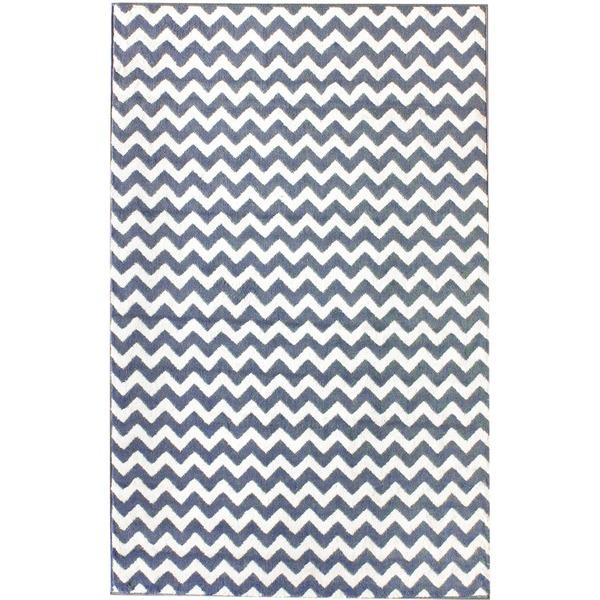 nuLOOM Alexa Chevron Vibe Zebra Rug (7'10 x 10'10) from Overstock.com