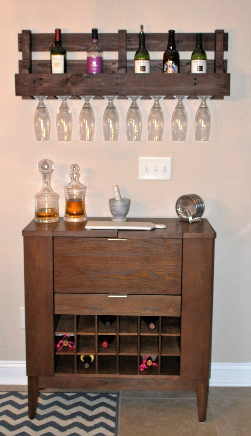 Crate & Barrel Bar cabinet