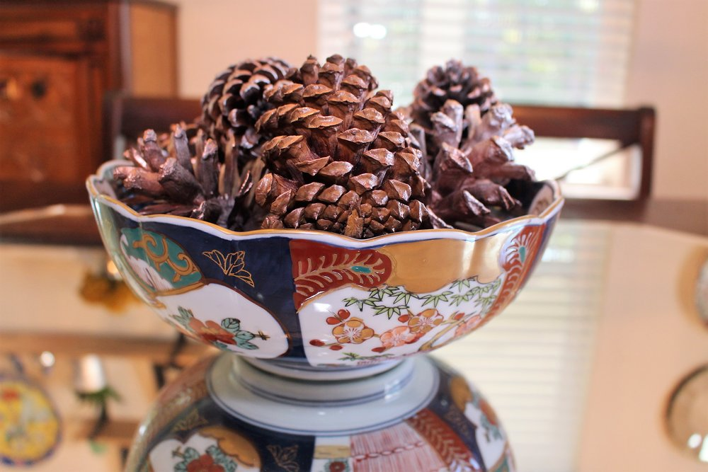 DIY Gold and Copper Pine Cones