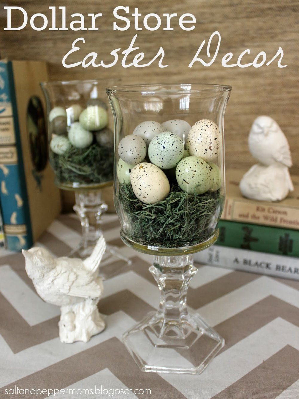 Salt and Pepper Moms - Dollar Tree Easter DIY