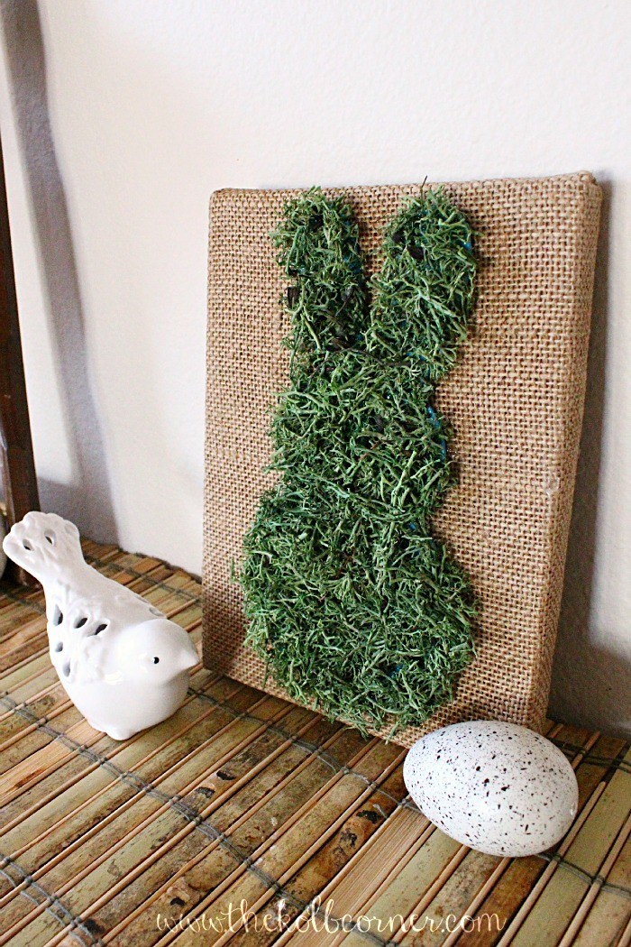 The Kolb Corner - Moss Covered Bunny Canvas DIY