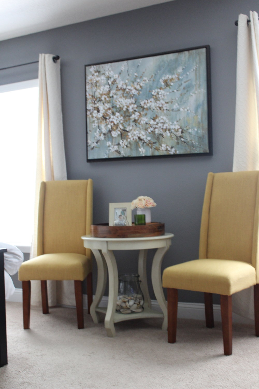 Cherry Blossom bedroom sitting area
