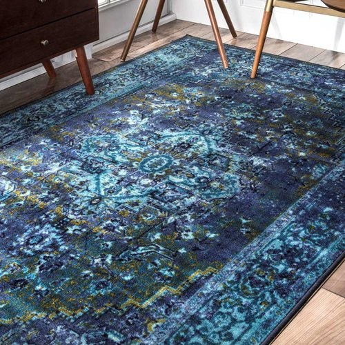 Loch Blue/Green Area Rug by World Menagerie on Wayfare.com