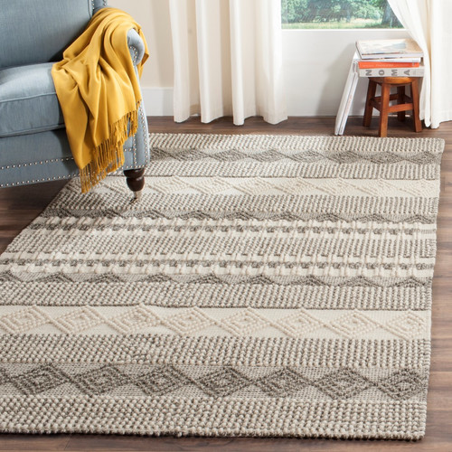 Billie Hand-Tufted Gray/Ivory Area Rug by by Laurel Foundry Modern Farmhouse on Wayfare.com