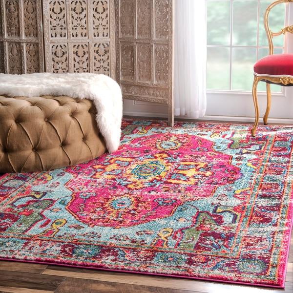 nuLOOM Distressed Abstract Vintage Oriental Multi Rug on Overstock.com