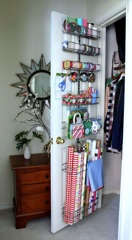 iheartorganizing.com shows you how to store your gift wrap station!