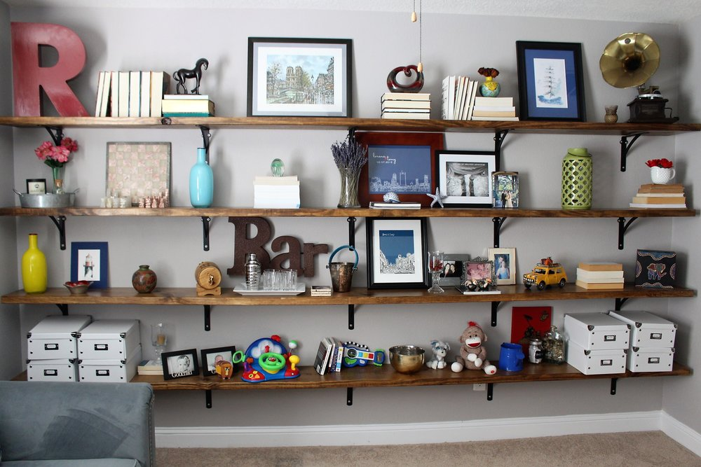 Before: Styling Office Shelves