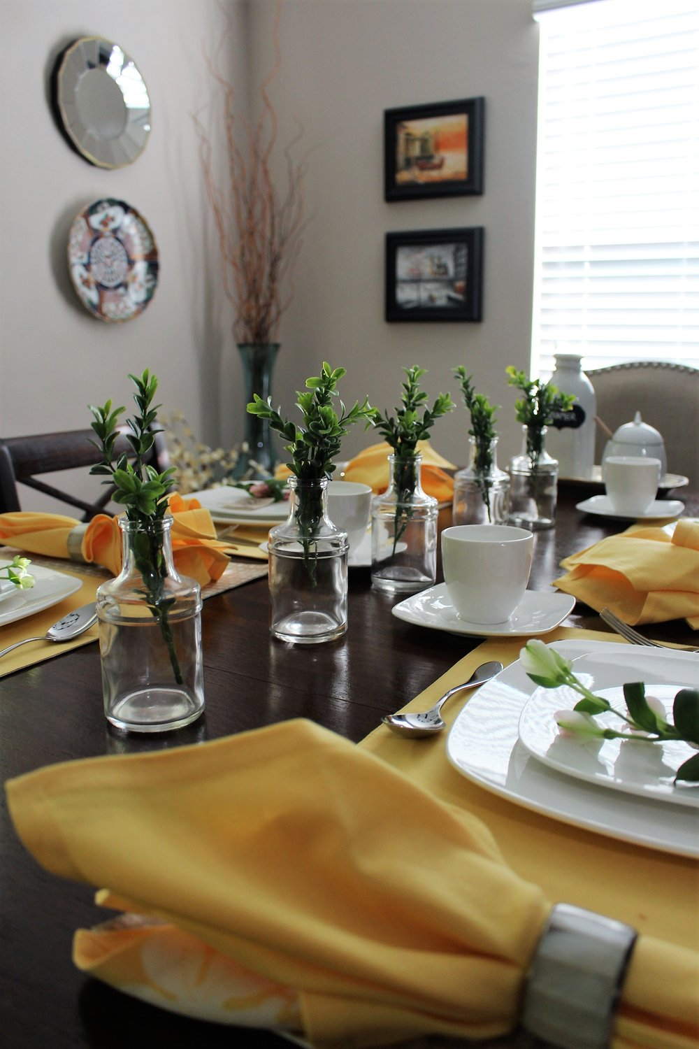 Colorful Mother's Day tablescape