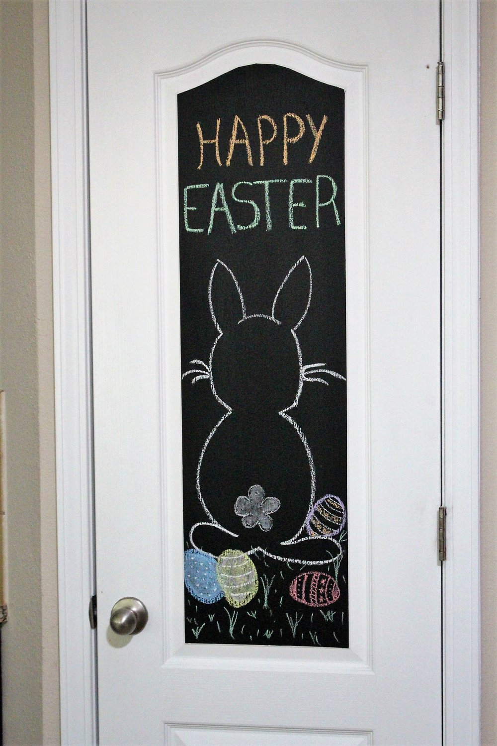 Easter chalk art