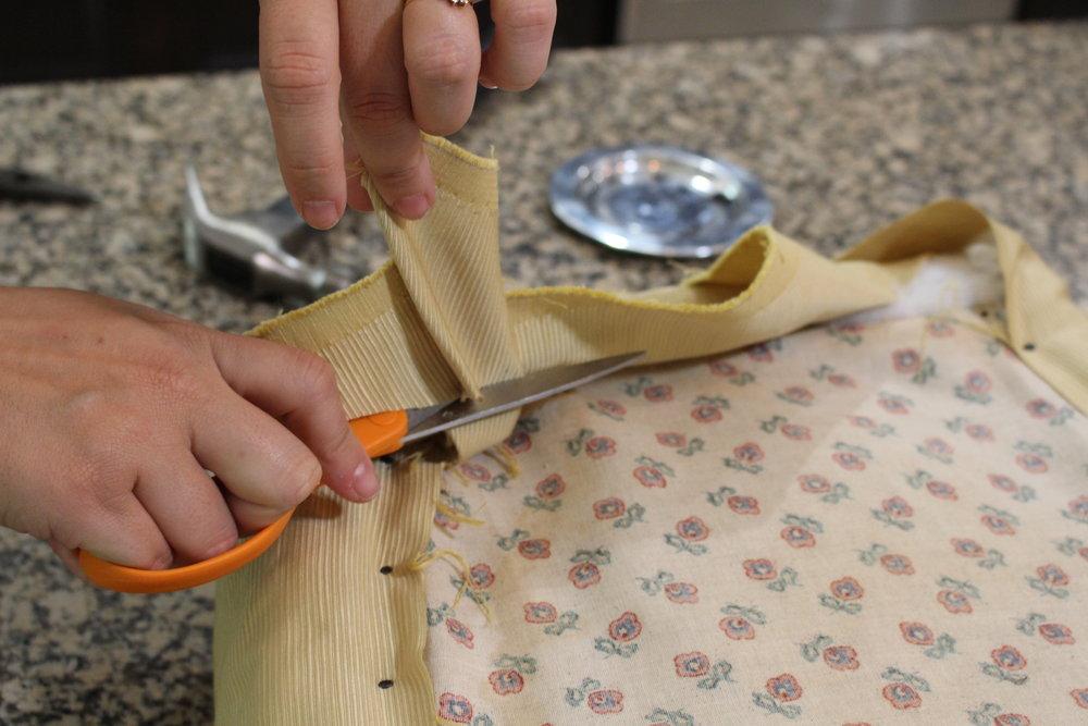 5. Trim excess fabric!