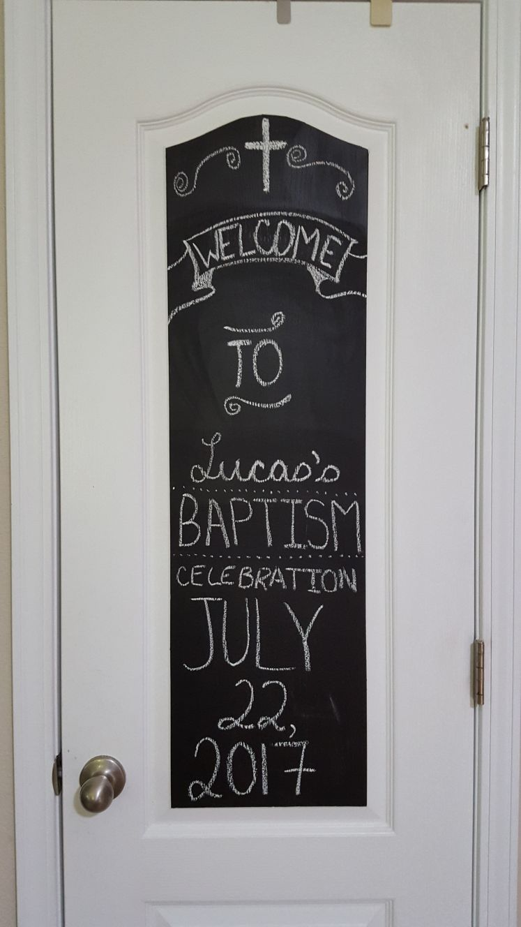 baptism chalk art