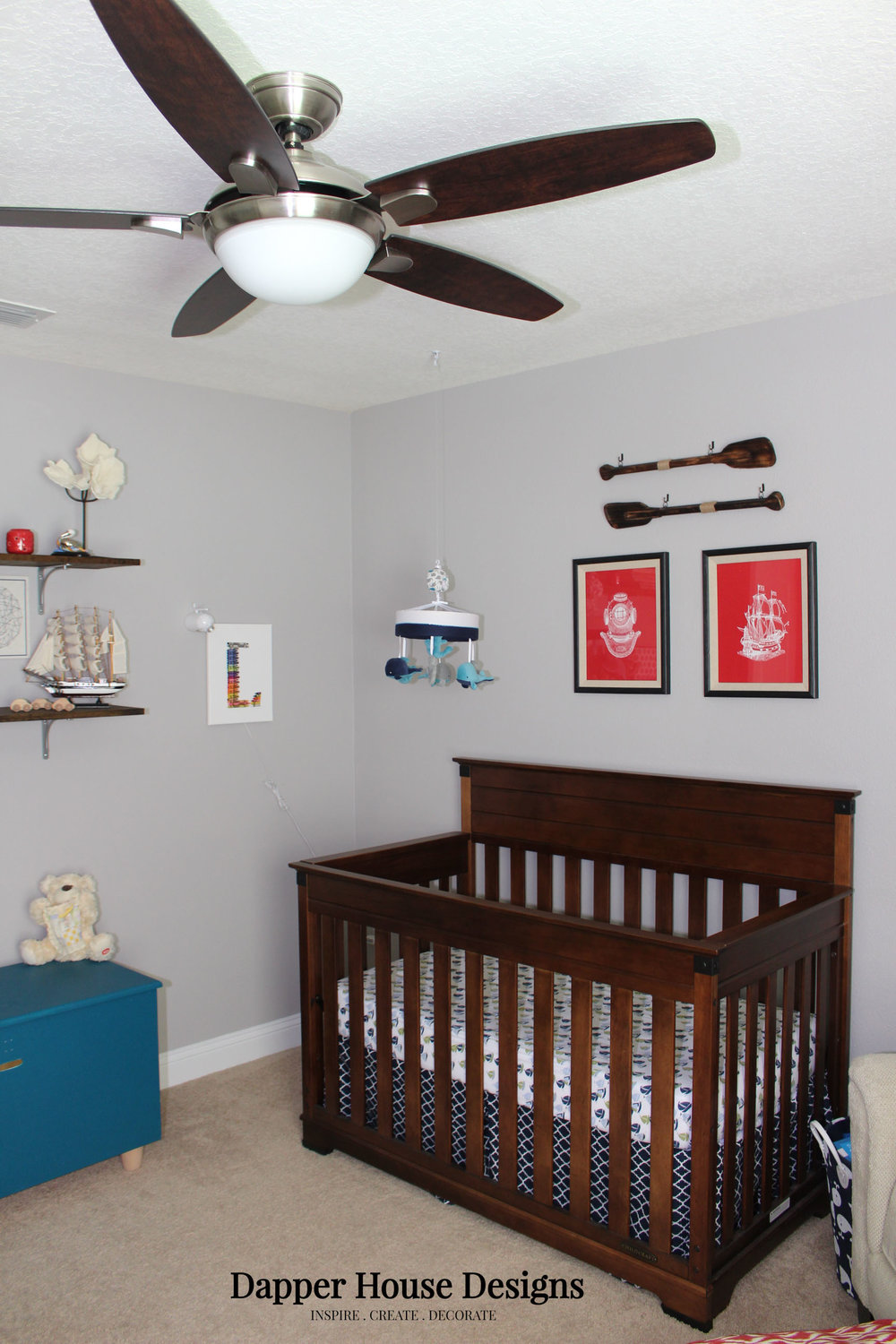 Adventure nautical nursery crib.jpg