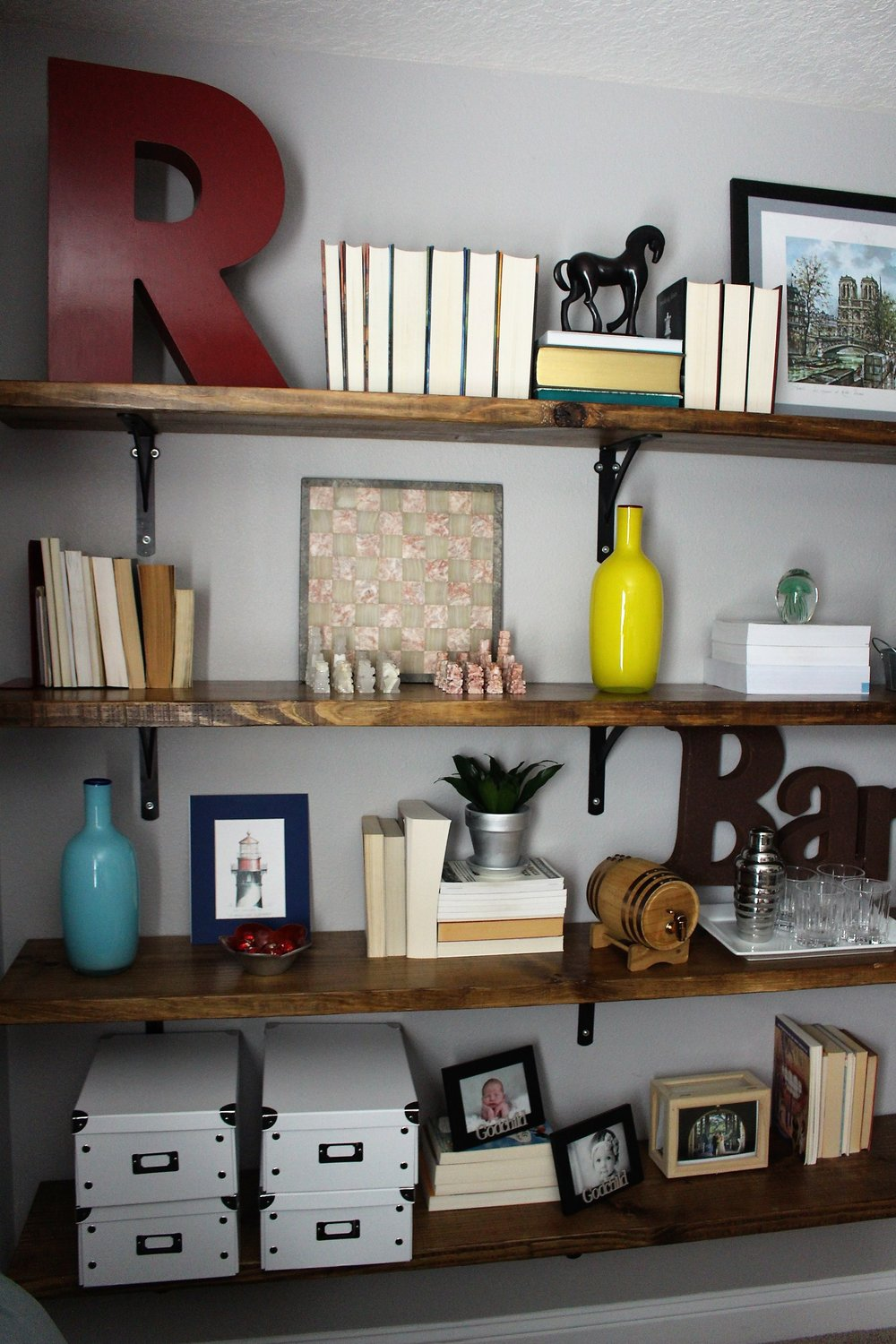 How To Hang Shelves By Yourself Like A Pro House By The Preserve