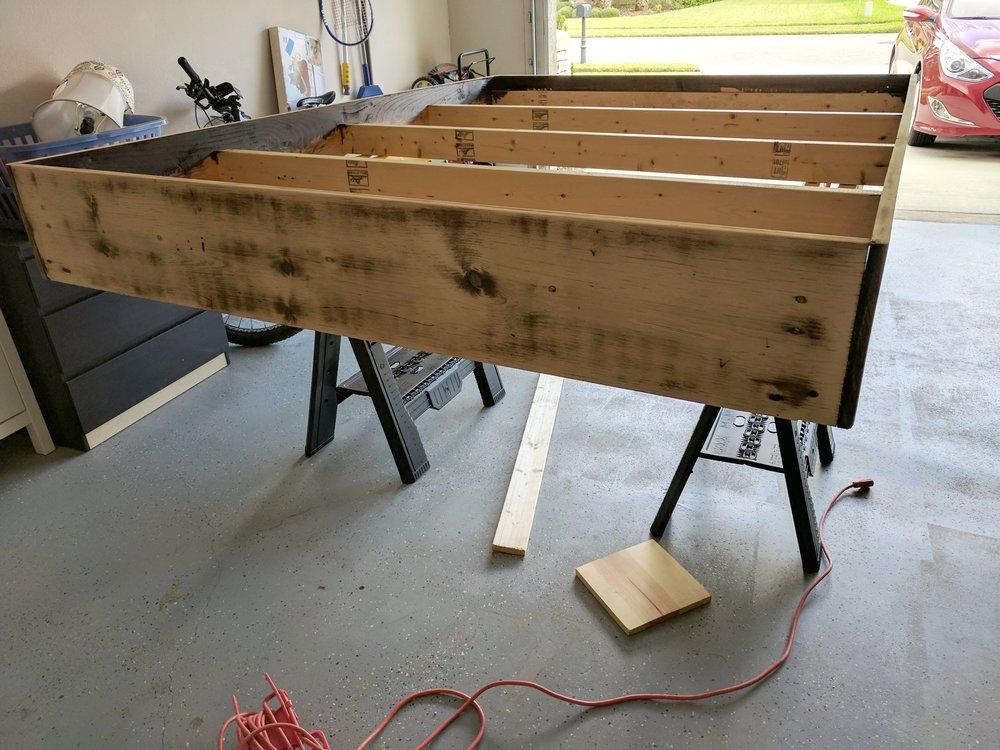 DIY platform bed