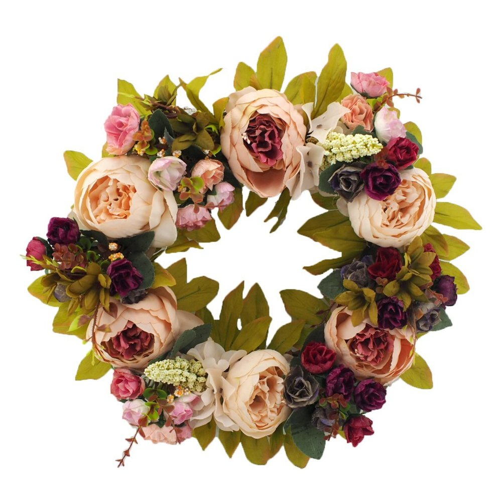 Handmade Flower Wreath - $33.99