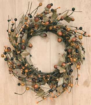 Acorn Pip Berry Wreath - $26.35