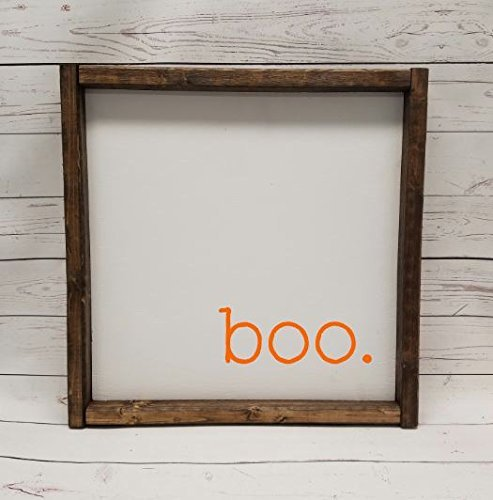 BOO! Scared you!  Boo Farmhouse Sign - $22.95