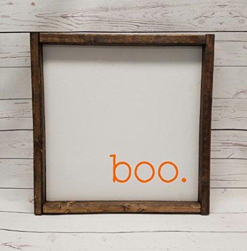 BOO! Scared you!  Boo Farmhouse Sign - $22.95