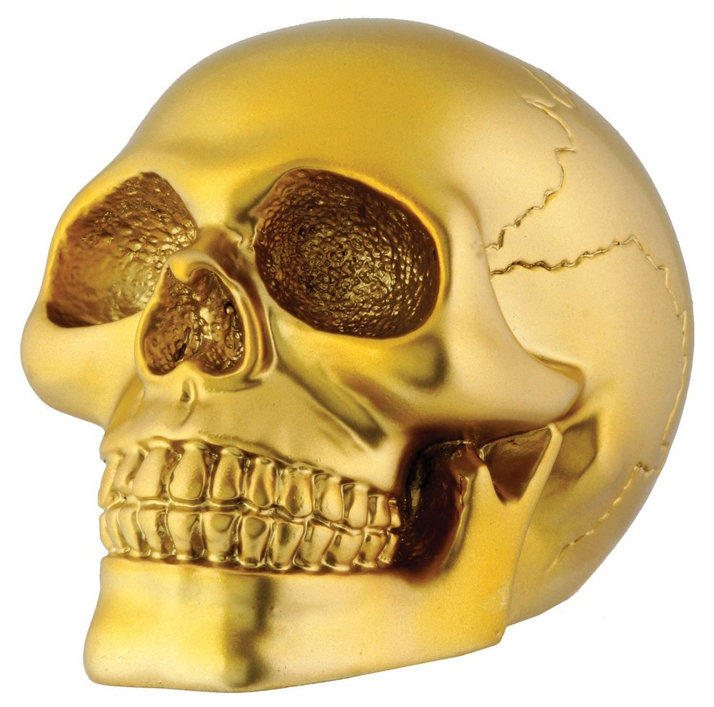 Scary or chic? You make the call!  Gold Skull - $12.01