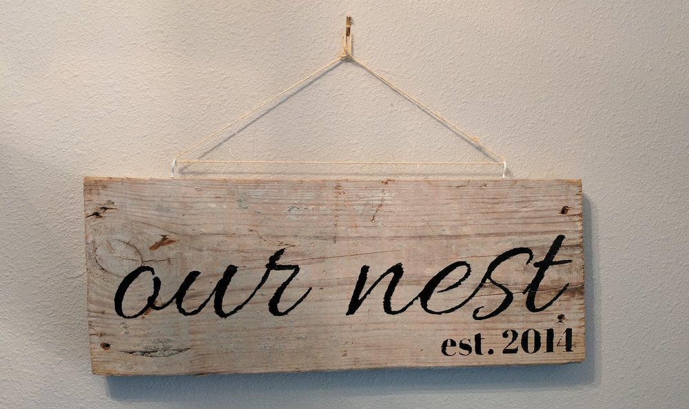 hand lettered sign created with cricut