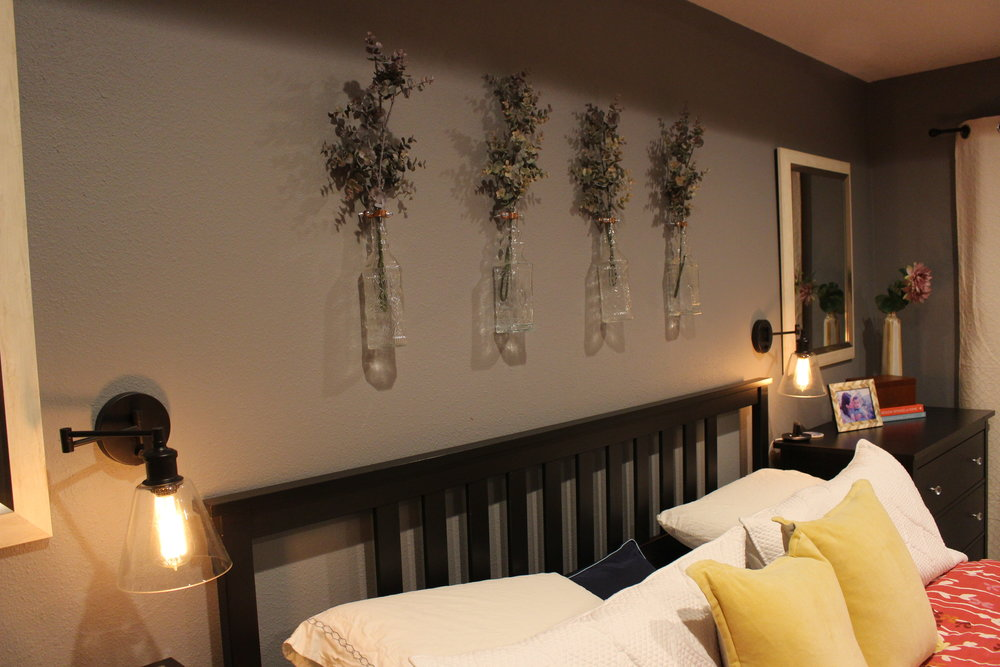 Above the bed decor