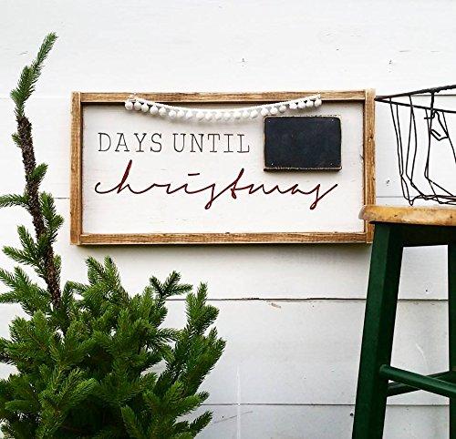 Christmas Countdown Wood Sign - $50.00