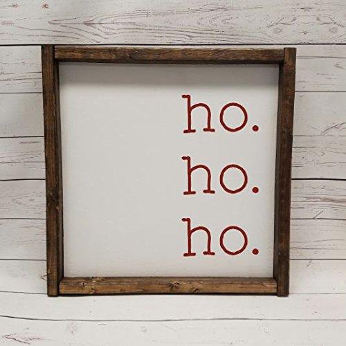 Ho. Ho. Ho. Wood Sign - $22.95