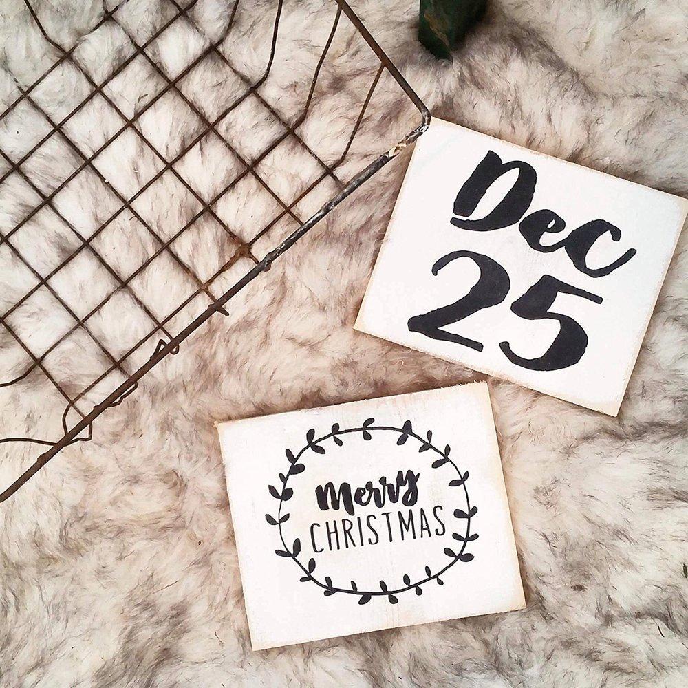 Christmas Mini Wood Signs - $15.00